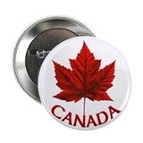 Canada Souvenir Maple Leaf Button