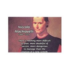 Political Theory: Machiavelli Rectangle Magnet