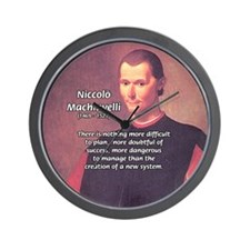 Political Theory: Machiavelli Wall Clock