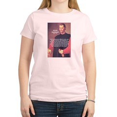 Political Theory: Machiavelli Women's Pink T-Shirt
