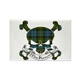 MacKenzie Tartan Skull Rectangle Magnet