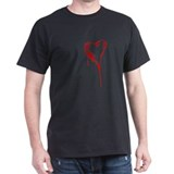 Bleeding Heart Black T-Shirt