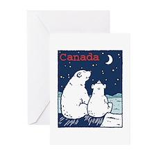 Canada Polar Bear Greeting Cards (Pk of 10)