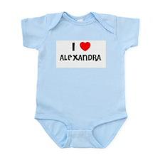 I LOVE ALEXANDRA Infant Creeper