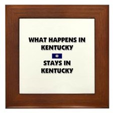 What Happens In KENTUCKY Stays There Framed Tile