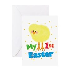 My 1st Easter Chick Greeting Card