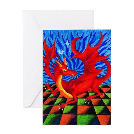 Red Dragon - Greeting Card