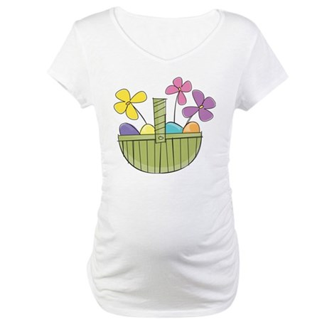 Easter Basket Maternity T-Shirt