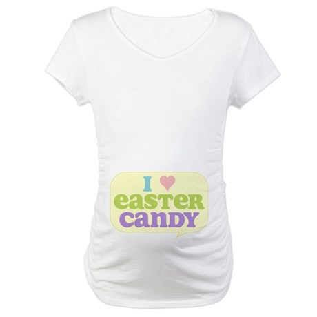 I Heart Easter Candy Maternity T-Shirt