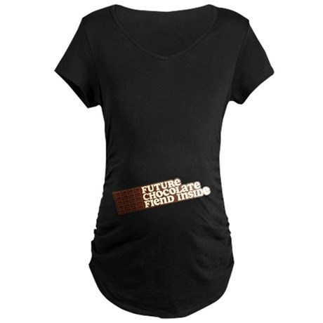Future Chocolate Fiend Inside Maternity Dark Tee
