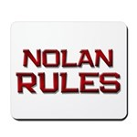 nolan rules Mousepad