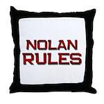 nolan rules Throw Pillow