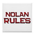 nolan rules Tile Coaster