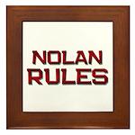 nolan rules Framed Tile