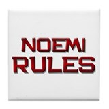 noemi rules Tile Coaster