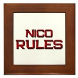 nico rules Framed Tile