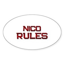 nico rules Oval Decal