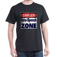FREE SPEECH Black T-Shirt