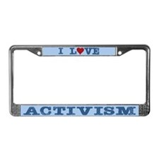 I Love Heart Activism License Plate Frame