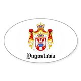Yugoslavian Coat of Arms Seal Oval Decal