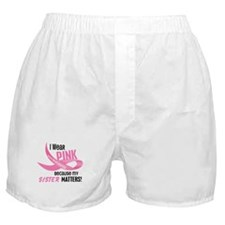 I Wear Pink For My Sister 33.2 Boxer Shorts