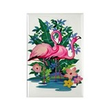 &amp;quot;Retro Flamingo&amp;quot; Rectangle Magnet