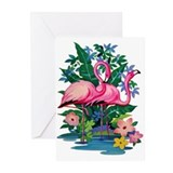"""Retro Flamingo"" Greeting Cards (Pk of 10)"