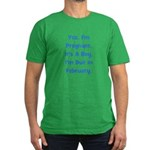 Pregnant w/ Boy due February Men's Fitted T-Shirt
