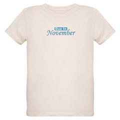Due In November - Blue Organic Kids T-Shirt