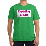 Expecting A Girl! Men's Fitted T-Shirt (dark)