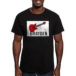 Guitar - Brayden Men's Fitted T-Shirt (dark)
