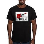 Guitar - Brian Men's Fitted T-Shirt (dark)