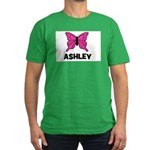 Butterfly - Ashley Men's Fitted T-Shirt (dark)
