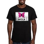 Butterfly - Becca Men's Fitted T-Shirt (dark)