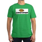 Christopher - Football Men's Fitted T-Shirt (dark)