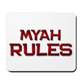 myah rules Mousepad