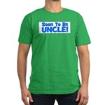 Soon To Be Uncle! Blue Men's Fitted T-Shirt (dark)