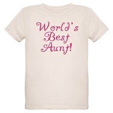 World's Best Aunt! - Pink T-Shirt