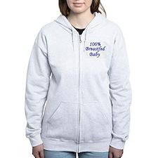 100% Breastfed Baby - Blue Zip Hoodie