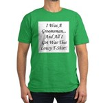 Groomsman Lousy Shirt Men's Fitted T-Shirt (dark)