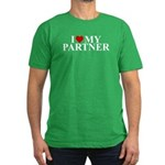 I Love My Partner (heart) Men's Fitted T-Shirt (da