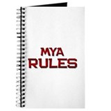 mya rules Journal