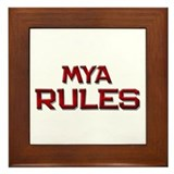 mya rules Framed Tile