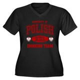Polish Drinking Team Women's Plus Size V-Neck Dark