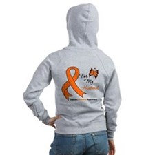 Leukemia Ribbon Husband Zip Hoodie