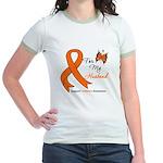 Leukemia Ribbon Husband Jr. Ringer T-Shirt