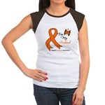 Leukemia Ribbon Husband Women's Cap Sleeve T-Shirt