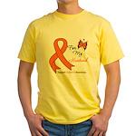 Leukemia Ribbon Husband Yellow T-Shirt