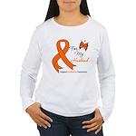 Leukemia Ribbon Husband Women's Long Sleeve T-Shir