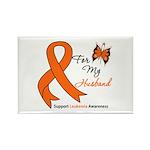 Leukemia Ribbon Husband Rectangle Magnet (10 pack)